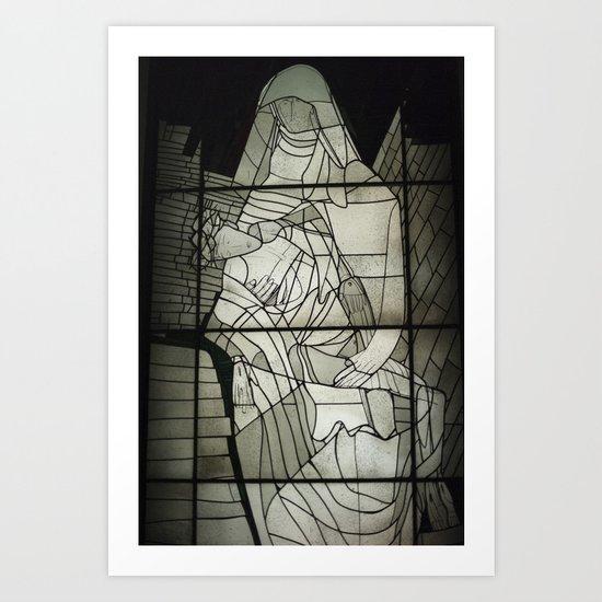 Grey Nun & Soldier Art Print