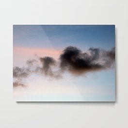 Sunset black cloud Western Australia Metal Print