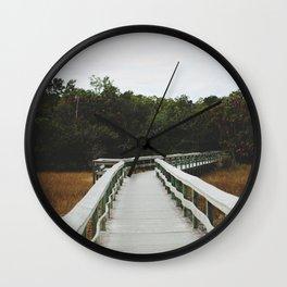 Bridge Over Everglades National Park in Florida Wall Clock