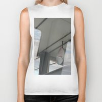 copenhagen Biker Tanks featuring Copenhagen Metro reflection by RMK Photography
