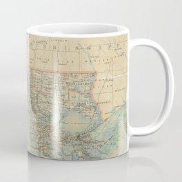 Vintage Map of Louisiana (1896) Coffee Mug