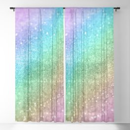 Rainbow Princess Glitter #1 (Photography) #shiny #decor #art #society6 Sheer Curtain