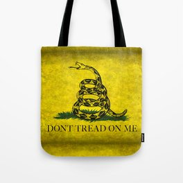 Gadsden Don't Tread On Me Flag - Worn Grungy Tote Bag