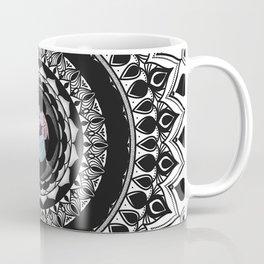 Mandala with Floral Watercolor Pattern Coffee Mug