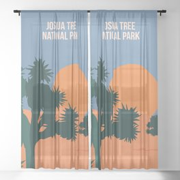 Enjoy The Sun And Explore The Wilderness Of The Joshua Tree National Park Sheer Curtain