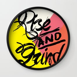 Rise & Grind Wall Clock