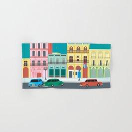Havana, Cuba - Skyline Illustration by Loose Petals Hand & Bath Towel