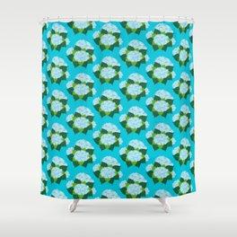 Hydrangeas, Blue Garden Shower Curtain