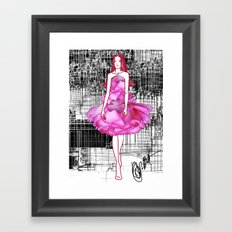 My rose dress fashion illustration concept. Framed Art Print