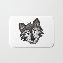 Howl You Doin'? - Cute Wolf - Puppy - 57 Montgomery Ave Bath Mat