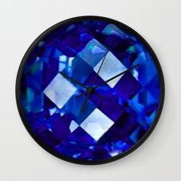 Blue Sapphire September Birthstone Gem Wall Clock