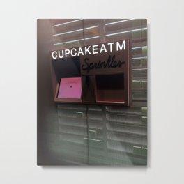 Cupcake ATM Sprinkles Metal Print
