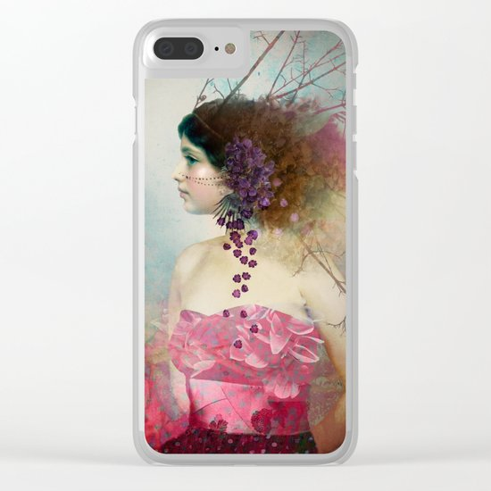 Portrait in Pastell 2 Clear iPhone Case