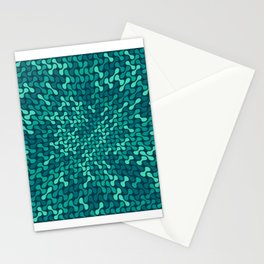 Warped Metaballs Pattern (Teal) Stationery Cards
