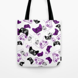Video Game White & Purple Tote Bag