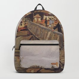 Alfred Sisley - Passerelle d'Argenteuil Backpack