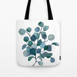Eucalyptus Branch Watercolor Painting Tote Bag