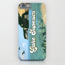 Lake Superior Retro iPhone Case