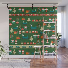 Santa's Christmas laboratory Wall Mural