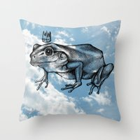 robert farkas Throw Pillows featuring Robert by Jessica Petrylak