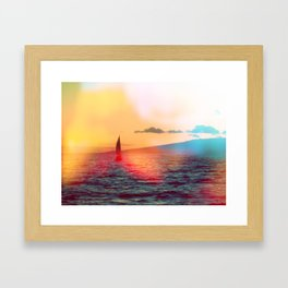 sailboat. Framed Art Print
