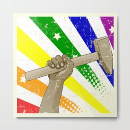 STRONG and PROUD Metal Print