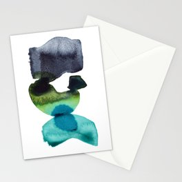 Weight of the World - Minimalist Abstract Watercolor Painting Stationery Cards