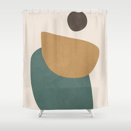 Abstract Minimal Shapes III Shower Curtain