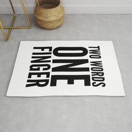 Two Words One Finger Rug