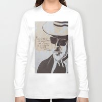 hunter s thompson Long Sleeve T-shirts featuring Hunter S. Thompson by Emily Storvold