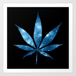 Weed : High Times blue Galaxy Art Print