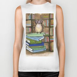 Owl the Librarian Biker Tank