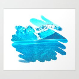 Blue Beauty 3 Art Print