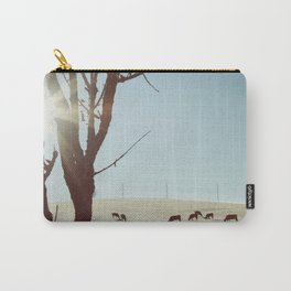 Tree and Cows Carry-All Pouch
