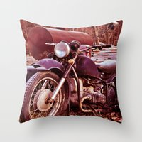 moto Throw Pillows featuring Vintage Moto by Eduard Leasa Photography