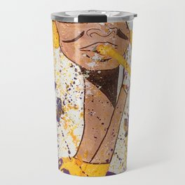 """I BLEED PURPLE AND GOLD"" Travel Mug"