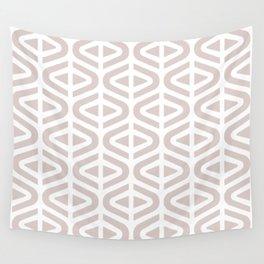 Mid Century Modern Split Triangle Pattern Light Beige Wall Tapestry