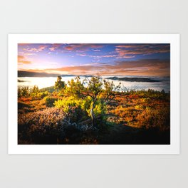 morning lights in the Basque mountains Art Print