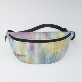 Denim Blue, Magenta Pink, Saffron Yellow and Gold Glam Abstract Fanny Pack