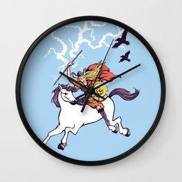 Shieldmaiden of Asgard Wall Clock