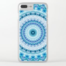 Bouncing Off Of Clouds Kaleidoscope Clear iPhone Case