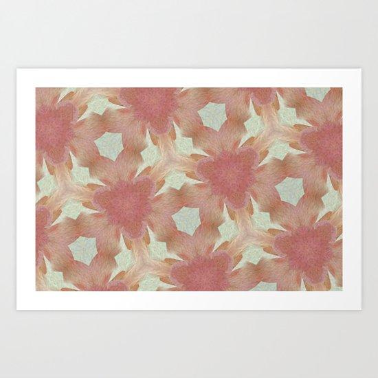 Geometric Floral Design - Pink Art Print