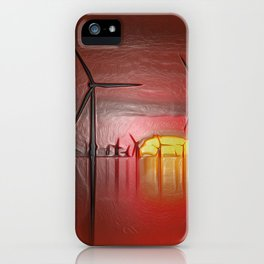 Windmills in the Sun (Digital Art) iPhone Case