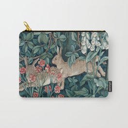 William Morris Forest Rabbits and Foxglove Carry-All Pouch