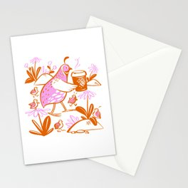 Cafe La Quail Stationery Cards