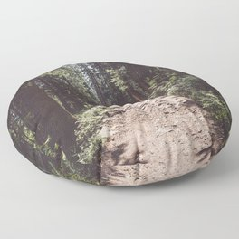 Entering the Wilderness - Landscape and Nature Photography Floor Pillow