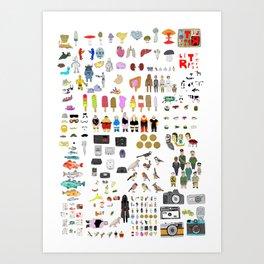 Letterpress Collection #04 Art Print