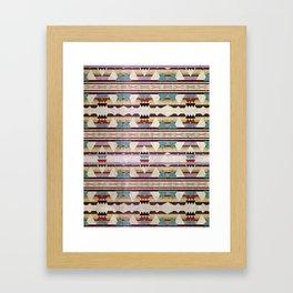 Aztec Mountains Framed Art Print