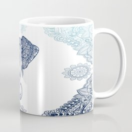 Bohemian Elephant Tribal Boho Gradient Blue Coffee Mug