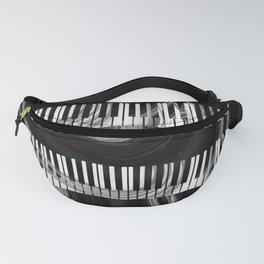 Modern Art Black And White Piano - Sharon Cummings Fanny Pack